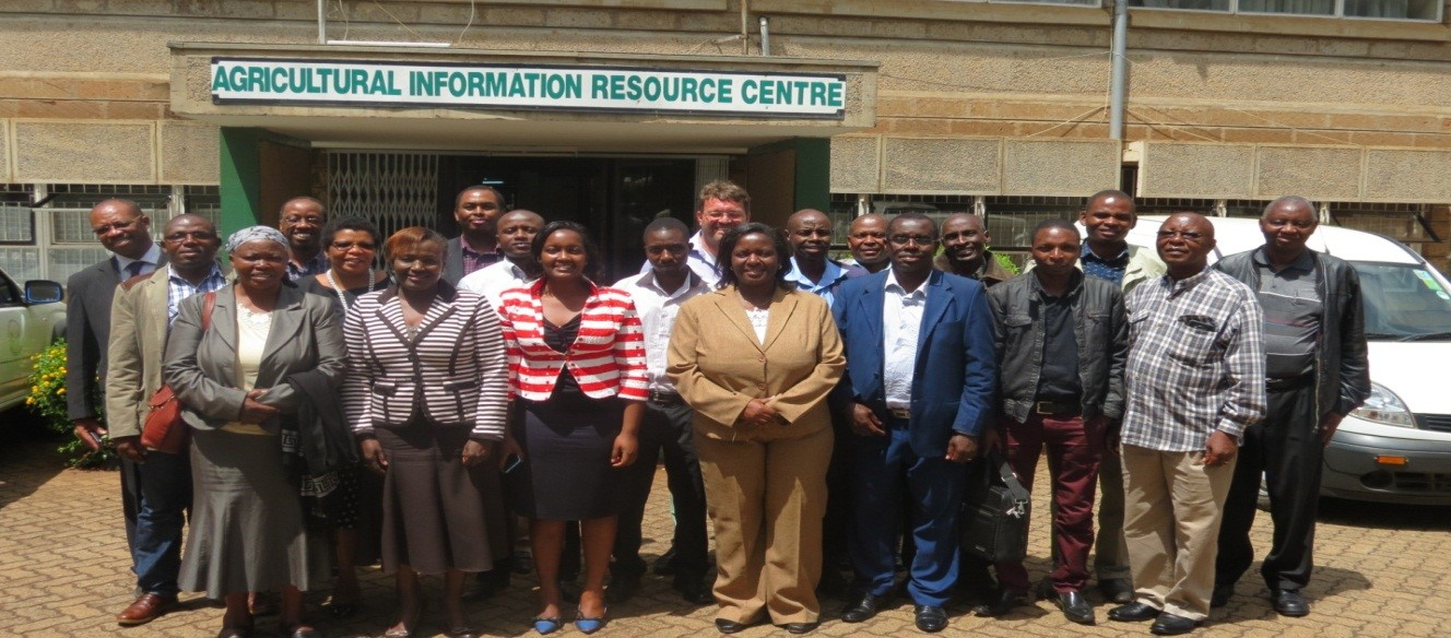 Potato Partners Platform Committee members during a past meeting held at KALRO Kabete