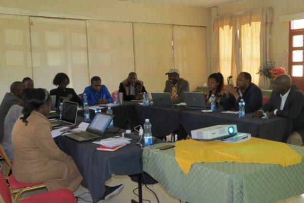 County Potato Platform members in a Workshop in Nakuru County